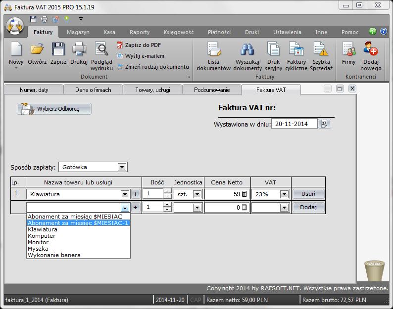 Faktura VAT - Program do fakturowania - nowy moduł do szybkiego wystawiania faktur